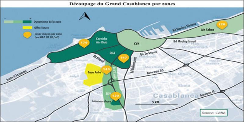 Immobilier d'entreprise: Les zones les plus prisées à Casablanca