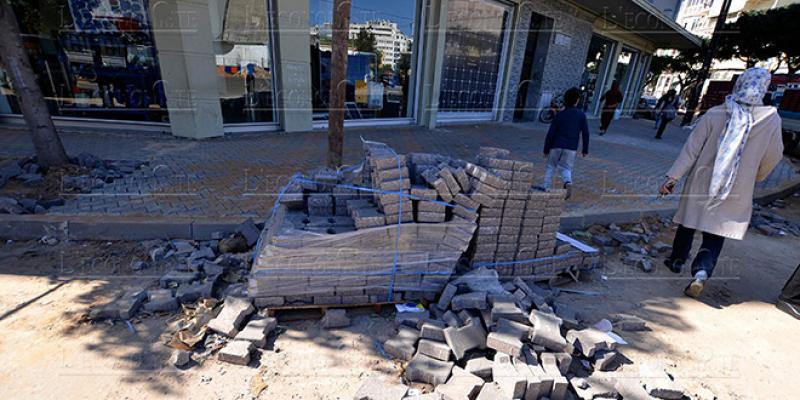 DIAPO-Casablanca: Bizarreries dans la réhabilitation des trottoirs