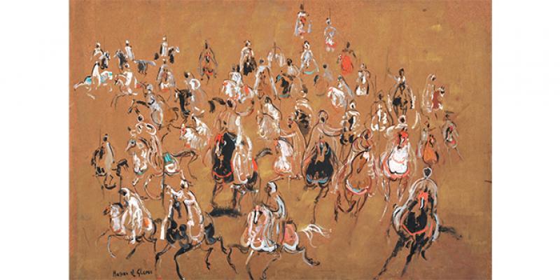 Expo: Hassan El Glaoui, des chevaux, mais pas seulement