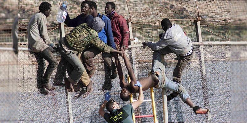 VIDEO-Melilia : Nouvelle entrée massive de migrants