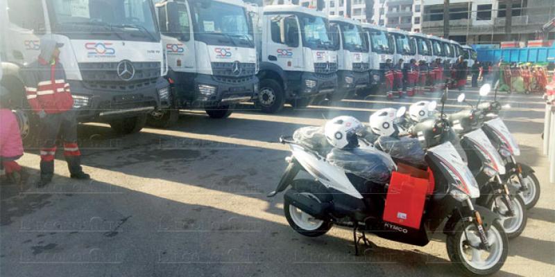 Mohammedia SOS déploie son nouveau matériel de collecte des déchets