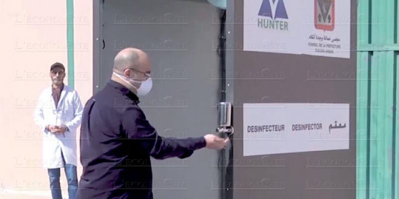 Oujda s'équipe en portiques désinfectants