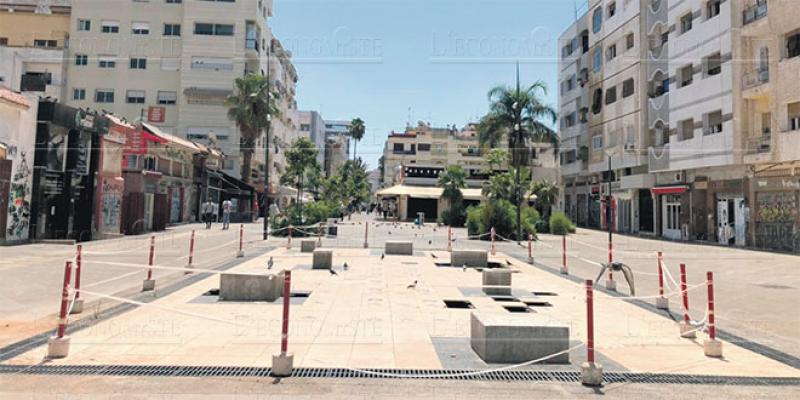 Casablanca: Maârif, la rue de Jura s'écroule!