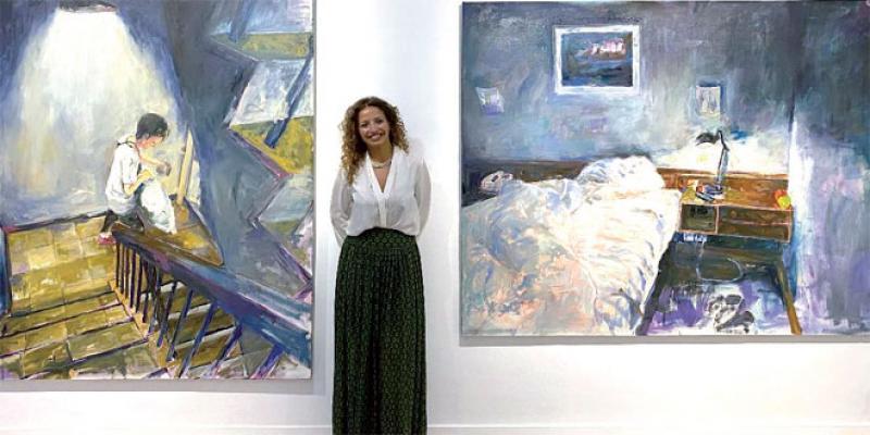 Dans un atelier d'artiste: Sanae Arraqas, un regard de l'intérieur