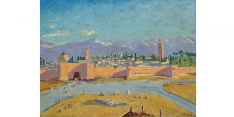 Christie's: La plus célèbre toile de Churchill, peinte à Marrakech, aux enchères