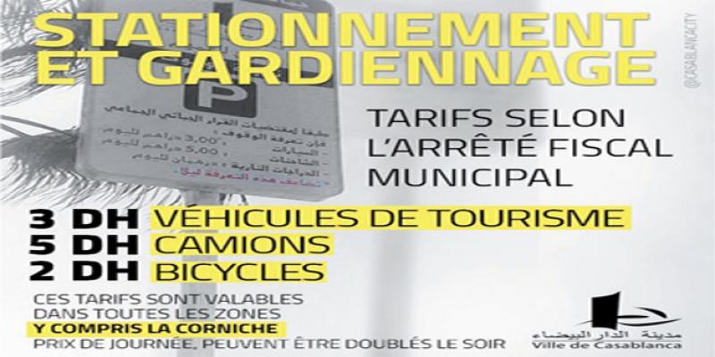 Stationnement: Casablancais, attention voici les nouveaux tarifs!