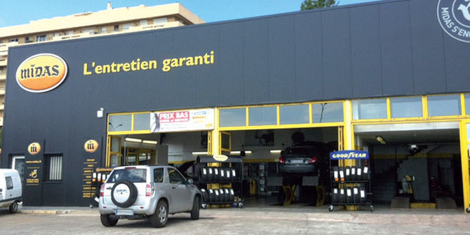 Midas change de master franchis l 39 economiste for Franchise ad garage