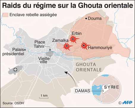59 morts dans des frappes aériennes sur la Ghouta — Syrie