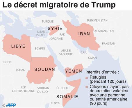 Le décret migratoire américain étendu à trois nouveaux pays