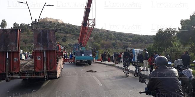 Diapo-Vidéos : Plusieurs blessés dans un accident de bus à Fès