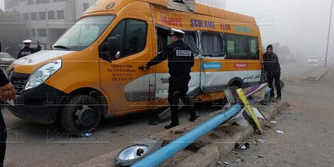 DIAPO-Accident de circulation: une collision coûte la vie à une petite de 5 ans
