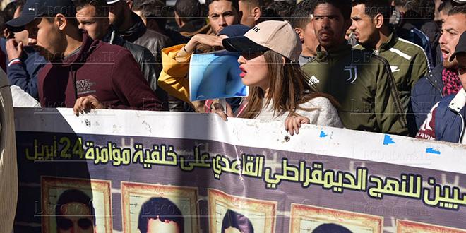 Diapo-Affaire Hamieddine : sit-in des étudiants d'extrême gauche